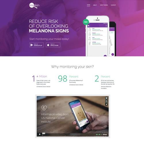 Skin Cancer App - Landing Page