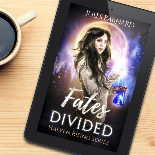 Book cover design for Fates divided
