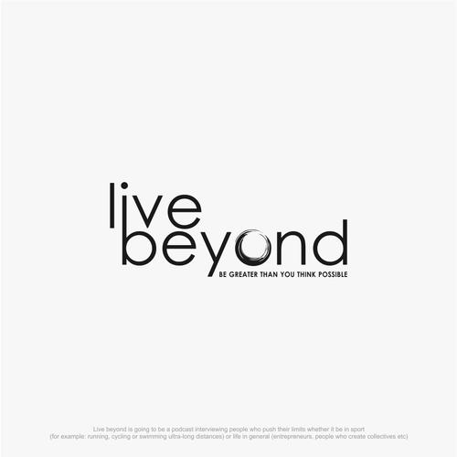 Live beyond logo concept