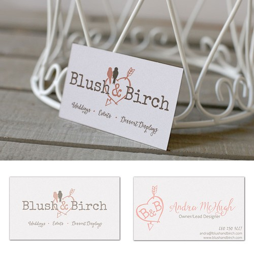 Create a business card for event planning company