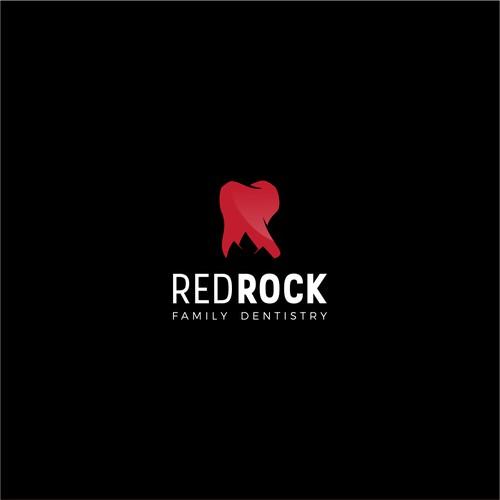 Dental logo concept for REDROCK