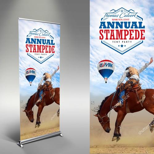 Thomas Calvert Annual Stampede Stand Banner