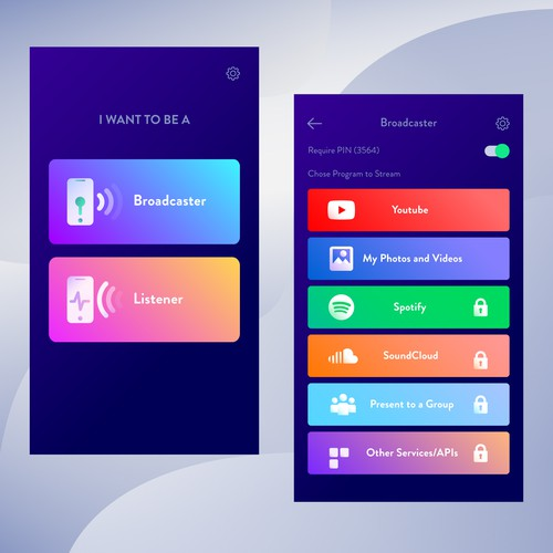 Mobile App design for Streamshare