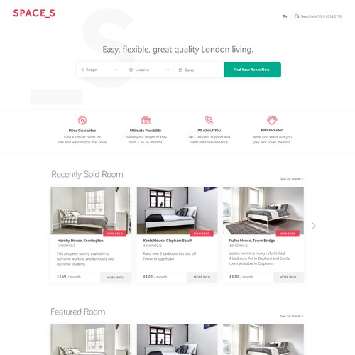 Spaces Urban Living Property Website Design