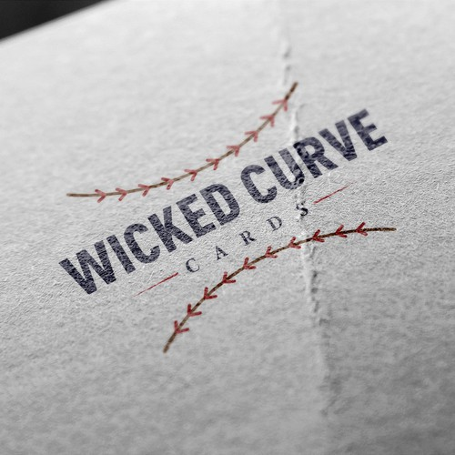 wicked curve baseball collector logo