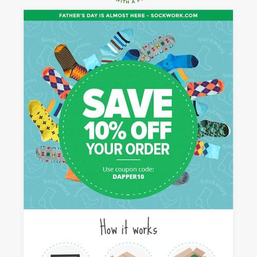 Sockwork email design