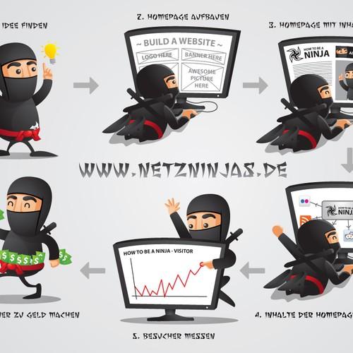 illustration or graphics für Netzninjas