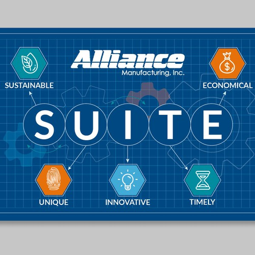 Company values poster for Alliance Manufacturing