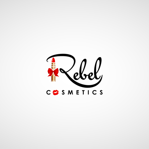 Cosmetic logo with lipstick