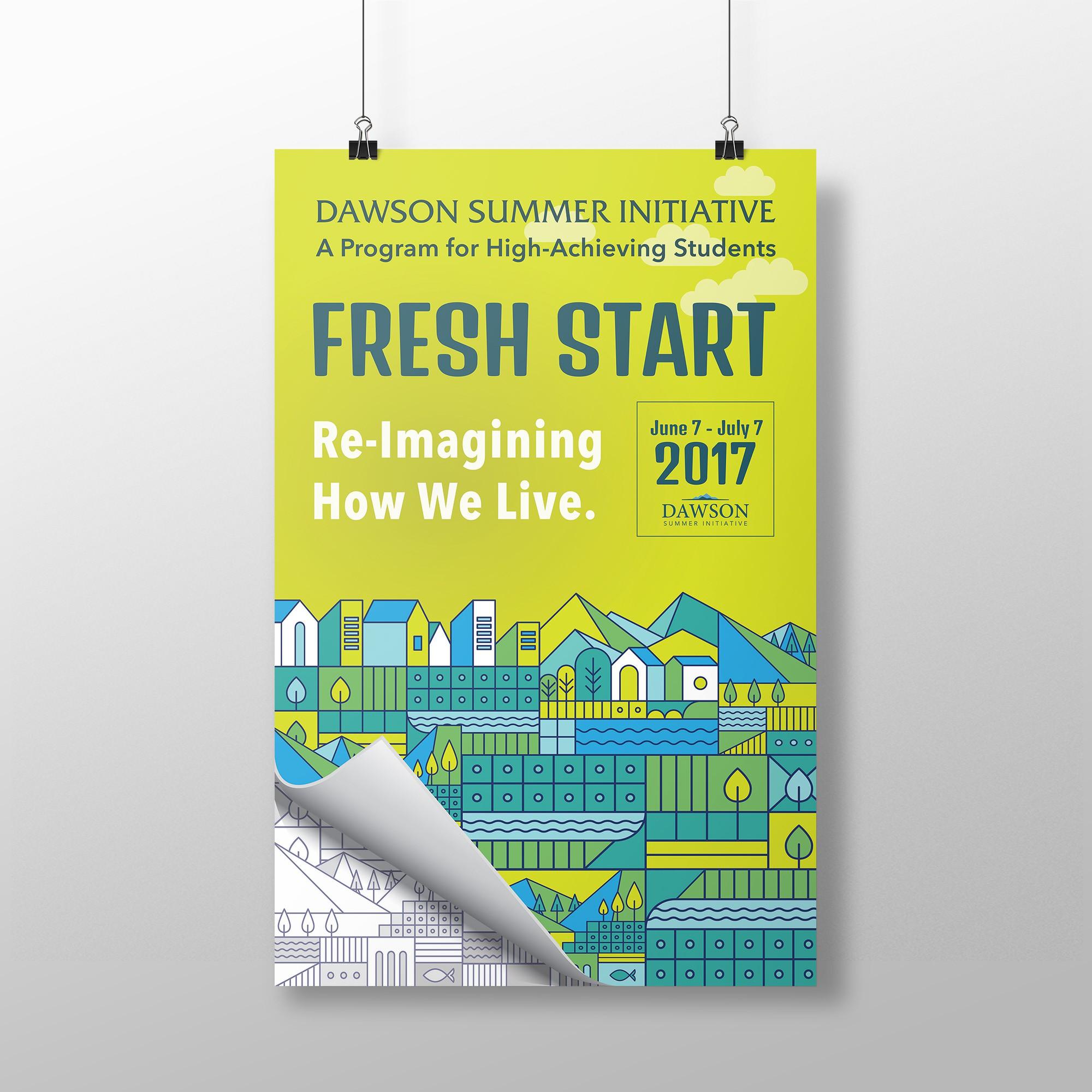 Re-Imagining How We Live: Design SIGNAGE for a summer academic program