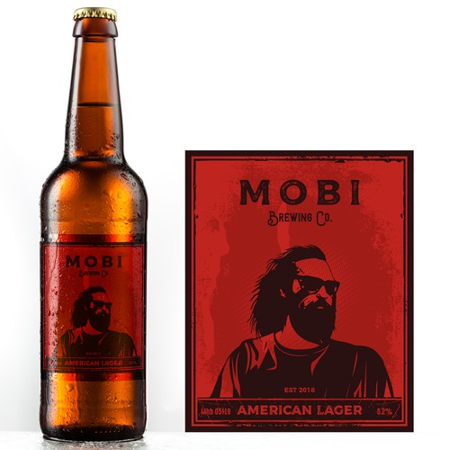 Beer label for Mobi Brewing Co.
