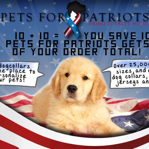 Design a Pet Themed Patriotic Charity Annoucement