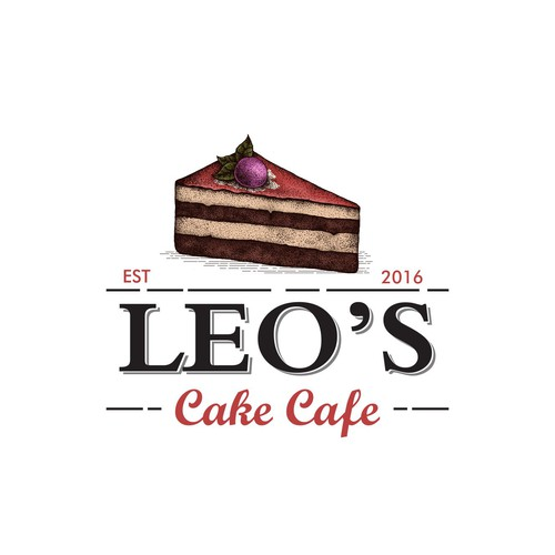 My hand drawing, Logo For Leo's Cake Cafe
