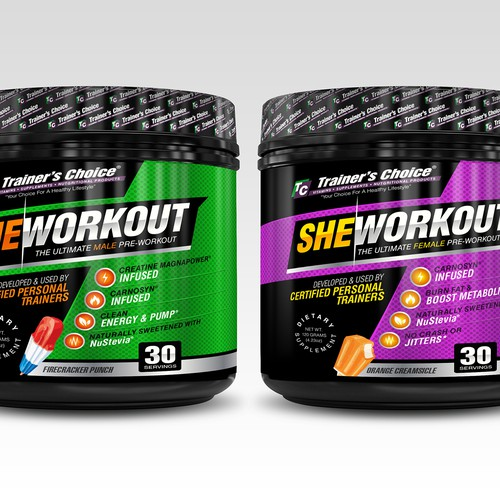 powerful preworkout label re-design