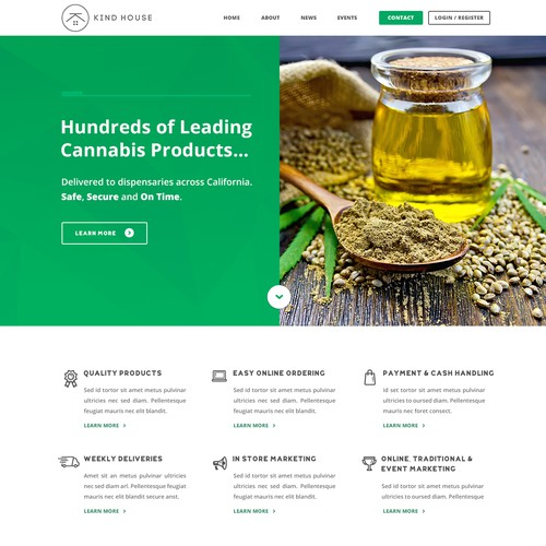 Web Design for Cannabis Delivery