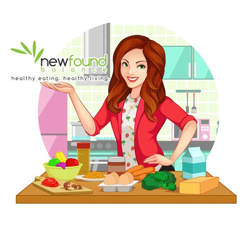 Mascot design and illustration for an awesome dietitian