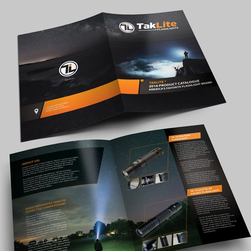 Product Catalog Design For Flashlight Company