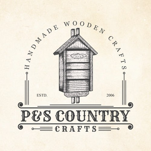 P&S Country Crafts needs a rustic vintage logo