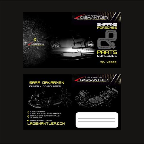 Porsche Parts Los Angeles Dismantler New Business Card