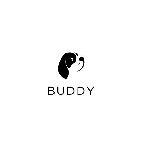 Dog logo, b/w