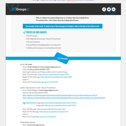 Email Group Digest Template