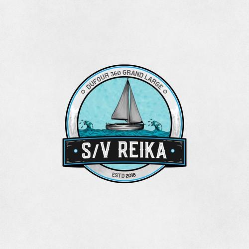 logo concept for s/v Reika World Adventure Travel sailboat