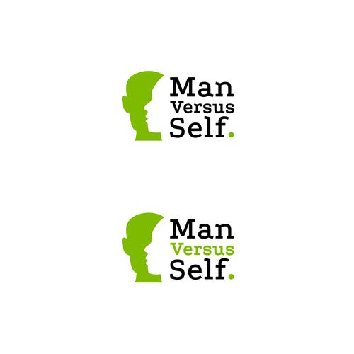 Man vs Self concept design for a personal blog logo