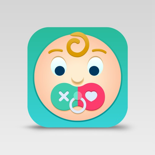 A fun app icon for a successful parenting app