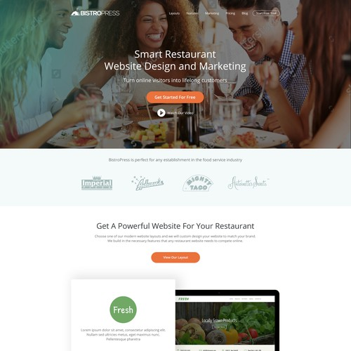Website Design For BistroPress