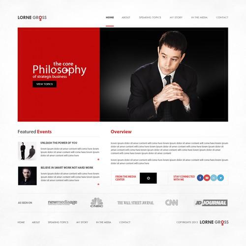 Keynote speaker homepage! Clean, minimal, cool