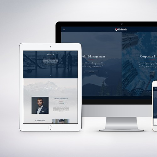 Corporate Style Financial Website Design