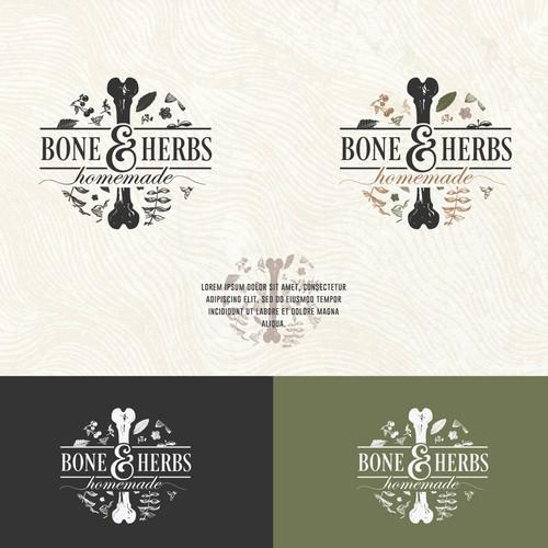 Logo concept for a homemade bone broth-based soup