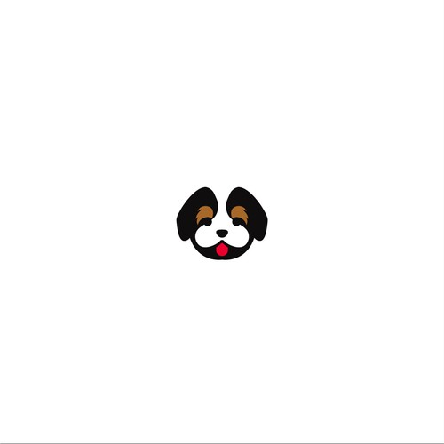 Logo concept for adorable Bernedoodle Breed