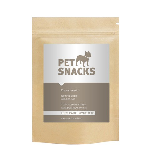 General product label for our brand of natural pet treats