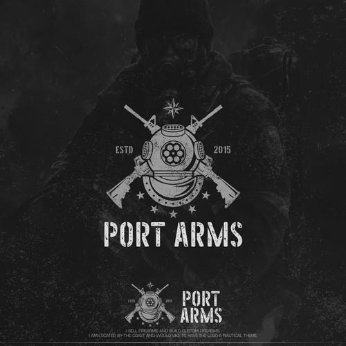 Logo design for Port Arms