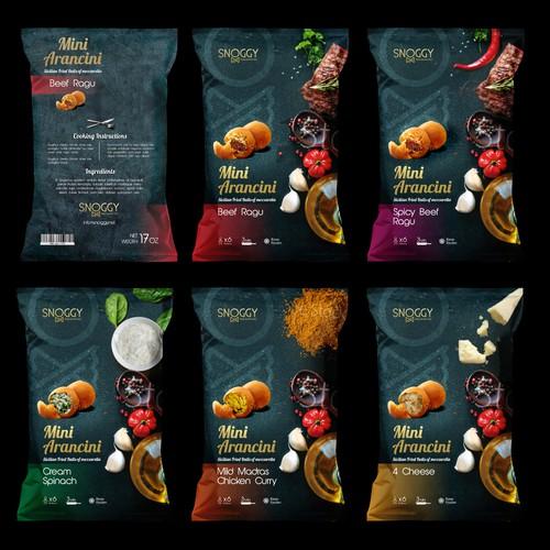 Création packaging pour une gamme de produit traiteur italien