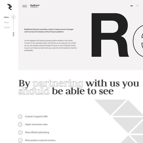 A high end creative and Minimal Website Design
