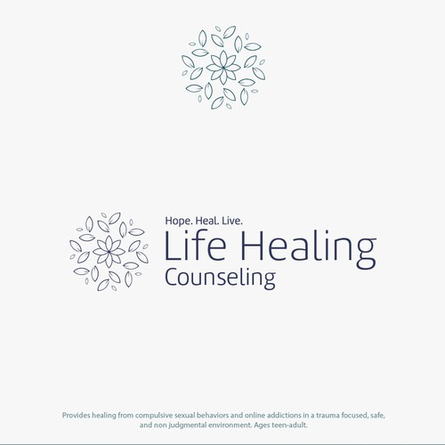 Abstract Logo for psychological counseling