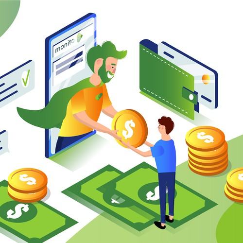 Illustrations for a fintech startup