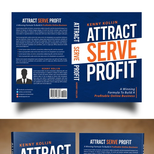 All text cover design for Attract Serve Profit book