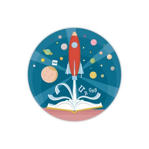 Sticker for kindergarten kids