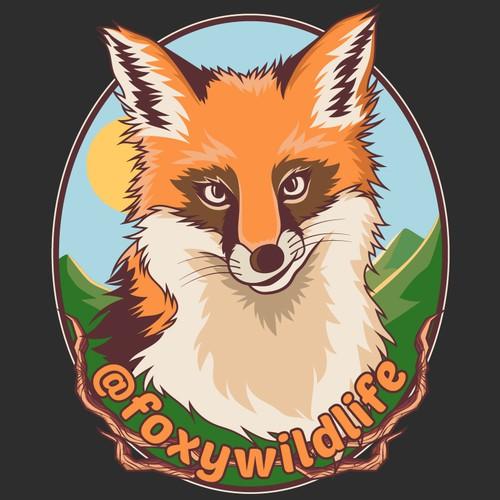 Foxy tshirt design