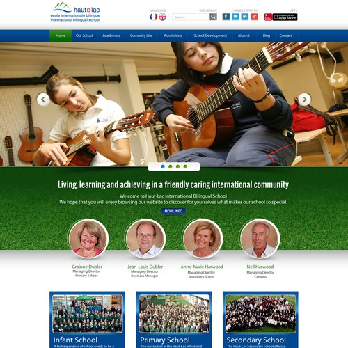 Create the best website for an International Private School in Switzerland