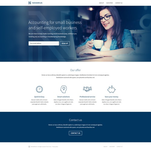 Novarius Landing Page