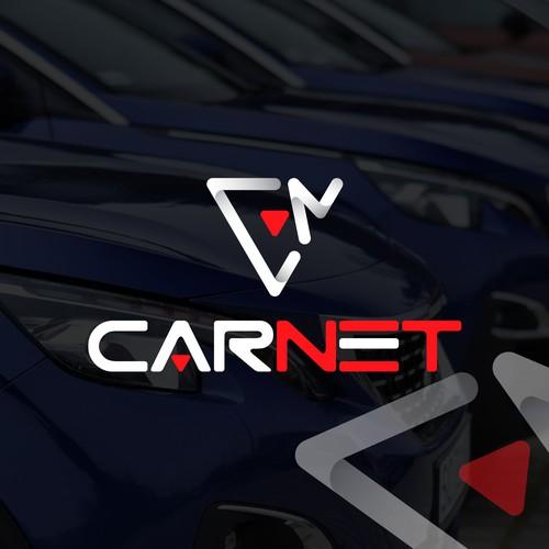Modern logo for CarNet