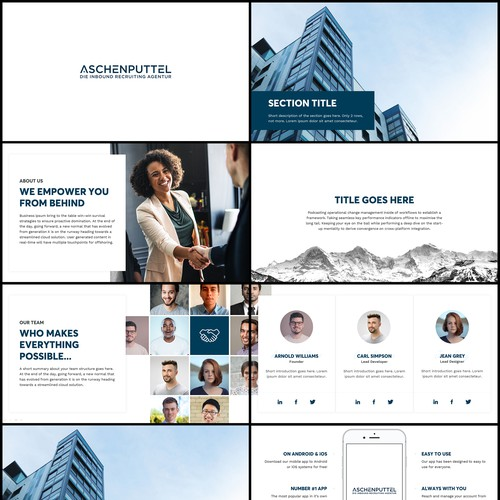 Business presentation concept