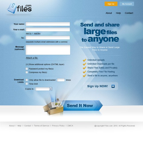 make an impact! brand-new file sharing website
