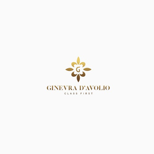 Luxurious logo for leather fashion products.