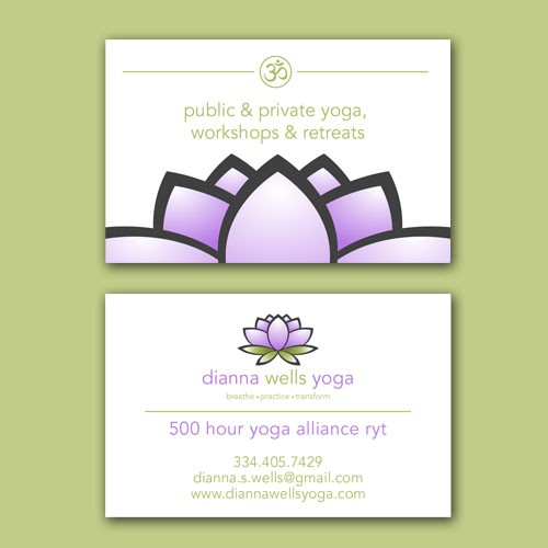 Dianna Wells Yoga Buisinesscard