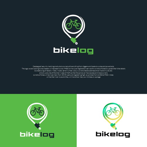 Design a modern clean logo for a cycle security company